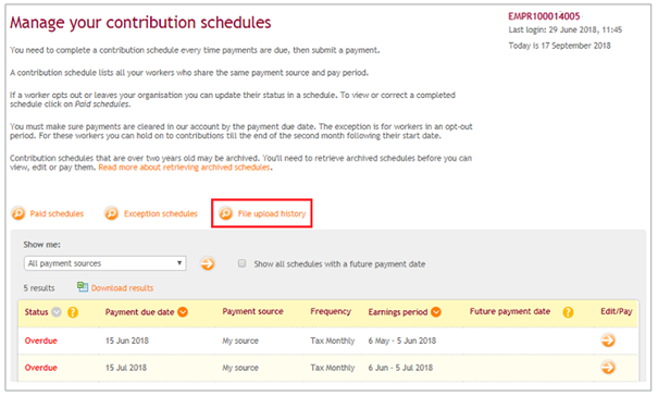 Fixing errors in contribution file | NEST Employer Help Centre